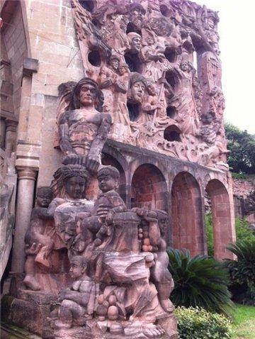 石刻艺术墙
