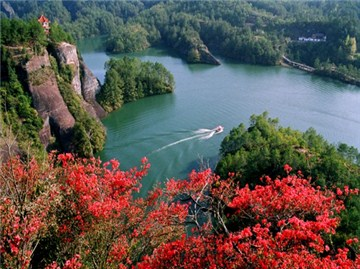 冠豸山石门湖