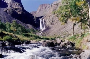 长白山瀑布与温泉群