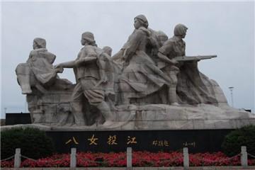 八女投江纪念群雕